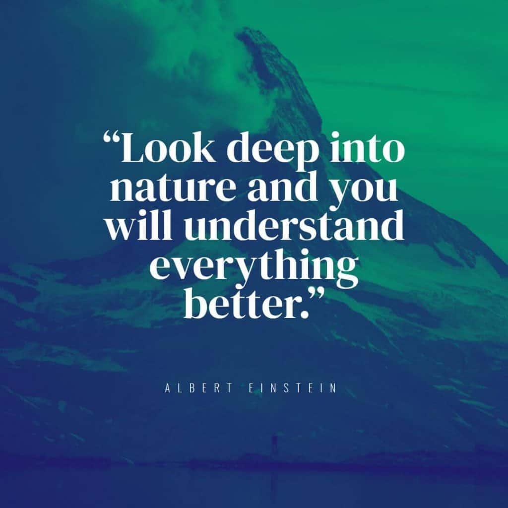 Hiking Quote - Albert Einstein
